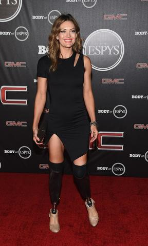 Paralympic athlete Amy Purdy arrives at the ESPN's BODY at ESPY's Pre-Party.