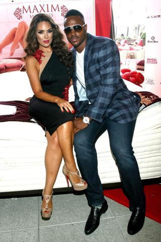 Football player James Anderson and model Carissa Rosario attend the GBK Luxury Sports Lounge prior to the ESPY Awards.