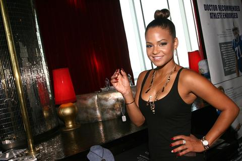 Actress Christina Milian attends the GBK Luxury Sports Lounge prior to the ESPY Awards.