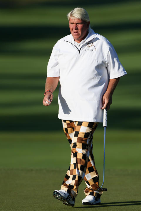 Check and mate. John Daly walks off the green during the Greenbrier Classic in White Sulphur Springs, W. Va. on July 5.