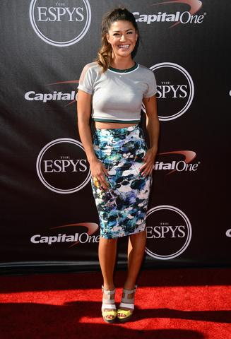 Actress Jessica Szohr attends The 2014 ESPY Awards at Nokia Theatre L.A. Live.