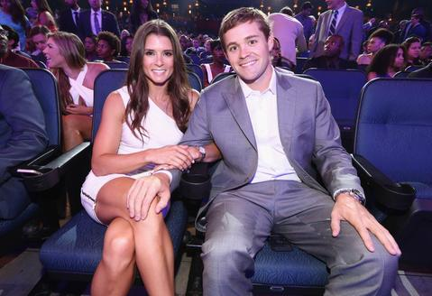 NASCAR drivers Danica Patrick (L) and Ricky Stenhouse Jr. attend The 2014 ESPYS at Nokia Theatre L.A. Live.