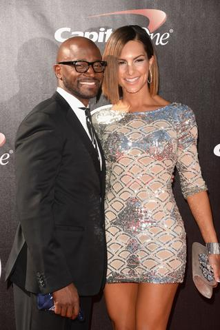 Actor Taye Diggs (L) and Amanza Smith Brown attend The 2014 ESPYS at Nokia Theatre L.A. Live.
