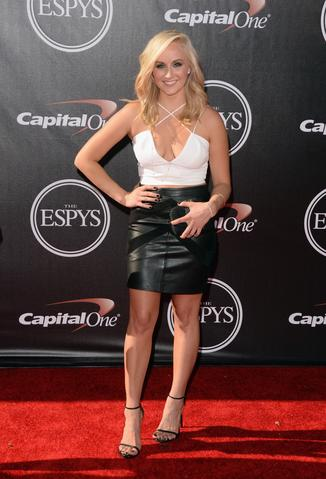 Gymnast Nastia Liukin attends The 2014 ESPYS at Nokia Theatre L.A. Live.