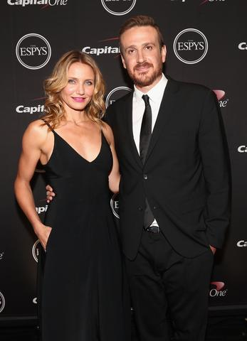Actress Cameron Diaz and Actor Jason Segel attend The 2014 ESPYS.