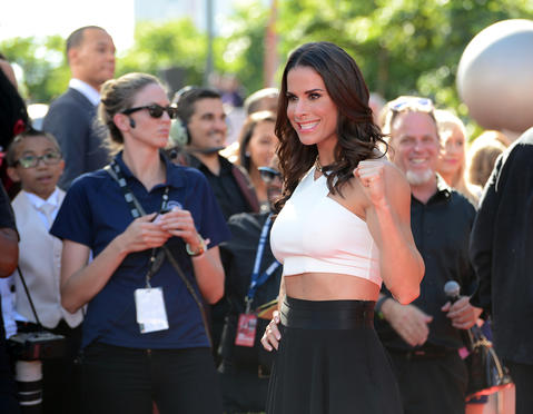 American boxer Danyelle Wolf arrives at the 2014 ESPY Award show.
