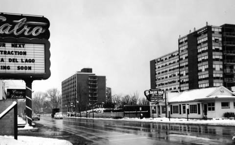 "Dec. 26, 1965: Wilmette's ""No Man's Land"" on Sheridan Road is one of the fastest growing industrial and residential areas in the North Shore."