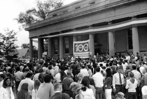 Sept. 23, 1972: Thousands of people celebrate Wilmette's Centennial at Wilmette and Central Streets.