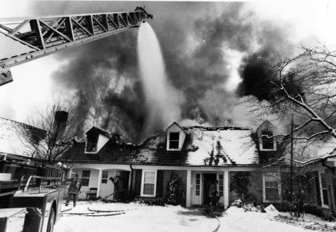 Jan. 14, 1982: Firefighters try to save a Wilmette home.