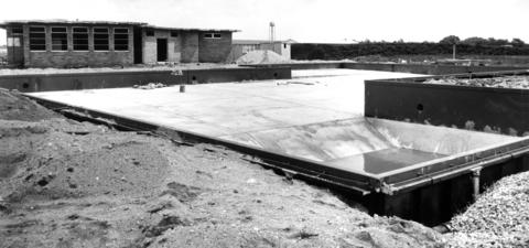 July 28, 1963: This unfinished, $160,000 pool in Hoffman Estates was built for Olympic or national competition.