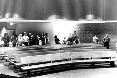 June 29, 1972: People view the courtroom at the new Hoffman Estates Municipal Building.