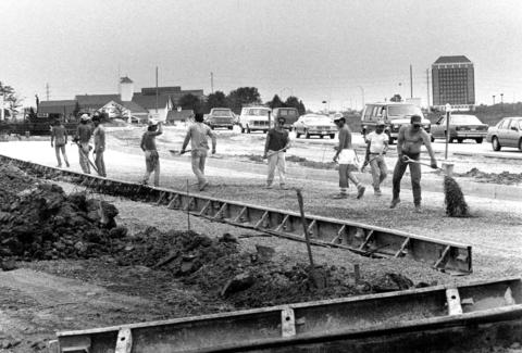 June 8, 1990: Construction on Barrington Road just north of Interstate 90 makes way for a development-spurred increase in traffic.