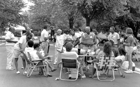 Aug. 25, 1991: A block party on Princeton in Hoffman Estates is the first in the 15-year history of the street.