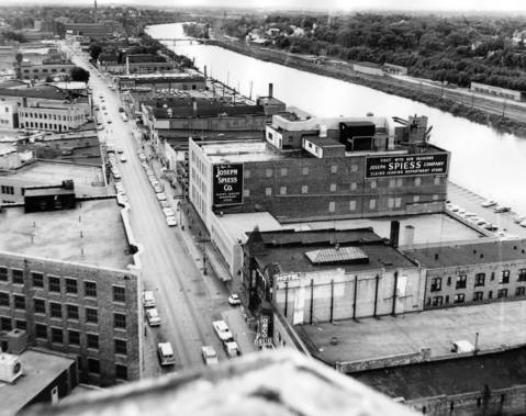 July 5, 1966: This photo looks south and shows the Fox River.