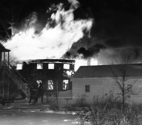 Feb. 12, 1959: The Deerfield Millwork Company burns.
