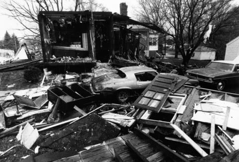 May 4, 1979: A home on Pleasant Avenue exploded and burned after a subcontractor for the Northern Illinois Gas Co. struck a gas line while digging in a parkway. The residents, a man and woman who were asleep inside, escaped with only first- and second-degree burns.