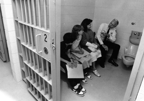 May 16, 1986: Hadley Junior High School students take over local government offices for the day. Police chief James Mullany describes life in the slammer.