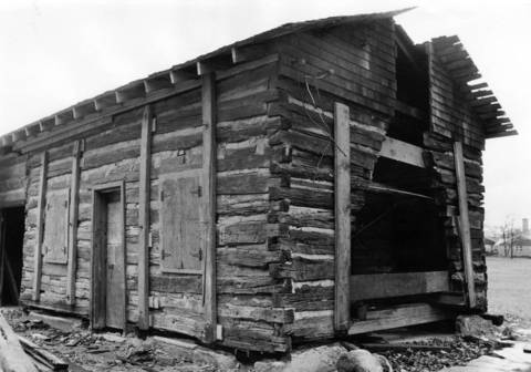 Nov. 21, 1968: The historic Francis Stupey cabin, as seen in this Nov. 21, 1968 photo. The cabin was later moved and renovated after it was donated to the Highland Park Historical Society by the Exmoor County Club.