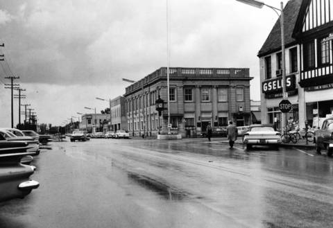 Aug. 28, 1960 : This Aug. 28, 1960 photo shows downtown Highland Park.
