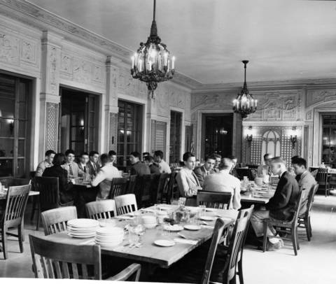 June 22, 1955: The dining area at Lake Forest Academy, as seen in this June 22, 1955 photo.