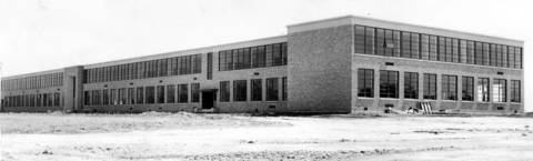 Aug. 20, 1950:The newly-constructed Hinsdale Township High School awaits students on Aug. 20, 1950. The building cost $2.2 million.