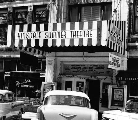 June 6, 1960: The Hinsdale Theater, as seen on June 6, 1960. At the time, it was in its 10th season.