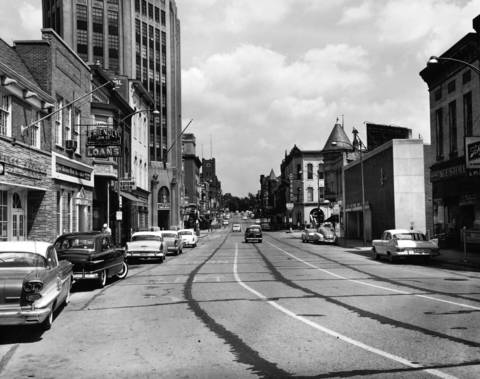 Aug. 16, 1959: A view of Chicago Street in Elgin.