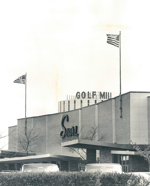May 10, 1965: The Sears Roebuck and Co. store at the Golf Mill shopping center.