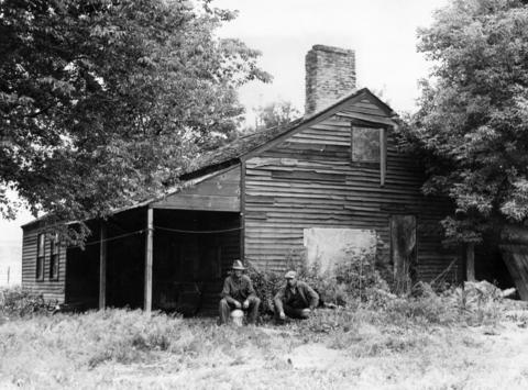 June 10, 1931: This cabin was home to one of the relatives of Joseph Naper, founder of Naperville.