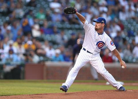 Cubs starting pitcher Travis Wood.
