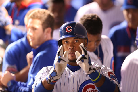 Luis Valbuena celebrates after his 2-run homer in the eighth inning.