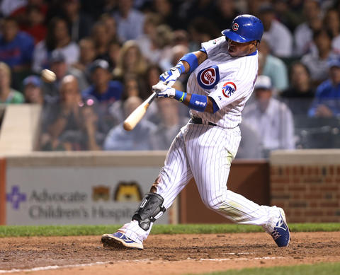 Luis Valbuena hits a two-run homer in the eighth inning.