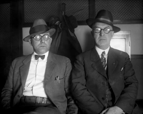Prohibition agents M. R. Smith and H. S. Bain in 1926.