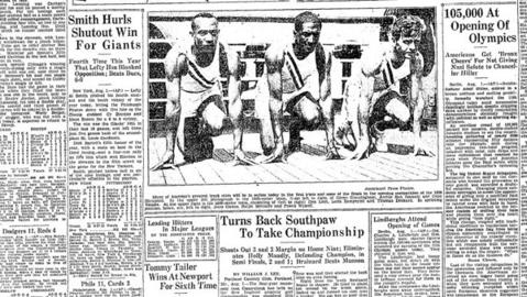 German Chancellor Adolf Hitler launched the 11th Olympiad with an opening ceremony to the summer games on Aug. 1, 1936. The United States delegation was surpassed in size only by the Germans.