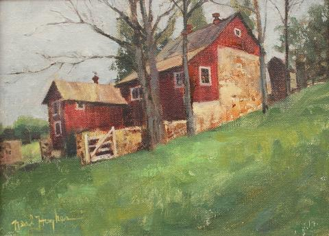 """Bruce Lightly and Beverly Schirmeier have their work on exhibit until Sept. 30 at Malone's Coffee House, 350 A East Main St. in Clinton. This is Lightly's """"Times Past on the Indian River."""" Hours are Monday to Saturday 6:30 a.m. to 2:30 p.m., Sunday 7 a.m. to 1 p.m."""
