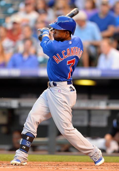 Arismendy Alcantara hits a two-run home run in the fourth inning.