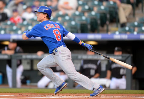 Chris Coghlan triples in the first inning.