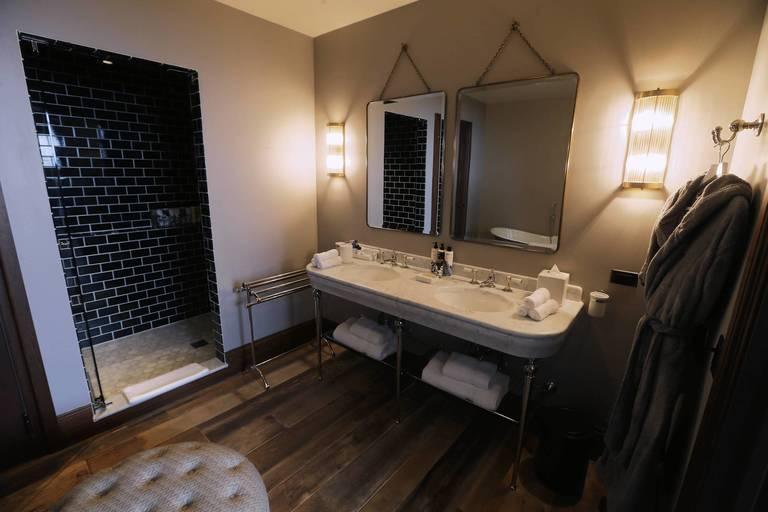 A Bathroom In A Guest Room Inside Soho House Chicago.
