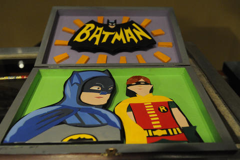Tom Torrey's Batman and Robin cigar box creation,