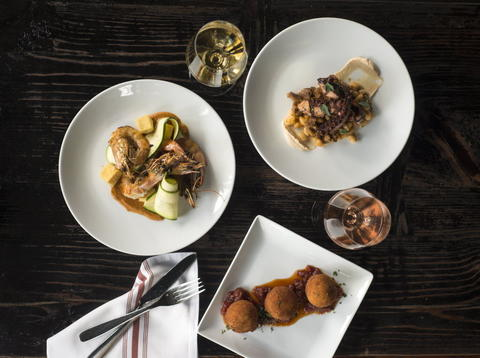 A variety of dishes include the Arancini, Prawns and Octopus along with a selection of small family owned and ethically farmed wines available by the glass, two-ounce pour and bottle at Webster's Wine Bar, 2601 N. Milwaukee Ave. in Logan Square.