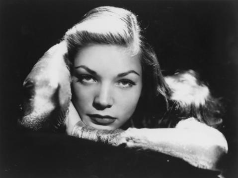 Actress Lauren Bacall in 1945. The screen icon died at age 89.
