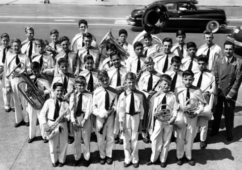 The Angel Guardian Orphanage Band, directed by James Sivinec, won first place in Class D bands at the Chicagoland Music Festival in Aug. 1950.