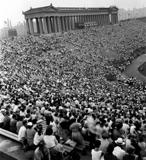 The Chicagoland Music Festival held at Soldier Field in Aug. 1955.