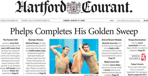 Michael Phelps took home the single greatest haul of Olympic medals in history of the games when his team won the 4x100 medley relay - his eighth medal of the 2008 Olympic games - on Aug. 17, 2008. Phelps broke the record set by American Mark Spitz in 1972.
