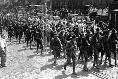 The state militia was mobilized in Chicago at the height of the 1919 race riot.