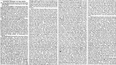 Beginning on Aug. 25, 1835, The Sun, a New York newspaper, printed a series of articles about the discovery of evidence of life on the moon. Many who read the paper believed the hoax, which was not discovered for several weeks.