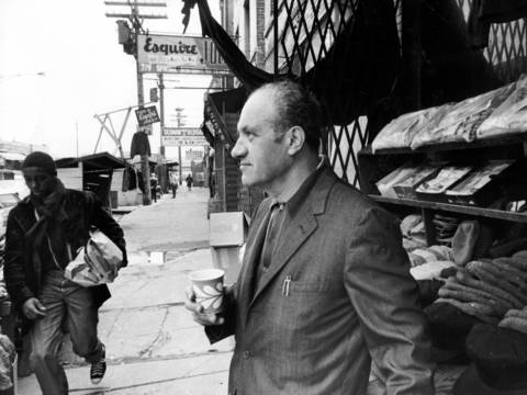 Bernard Pinsker stands outside his shop on Maxwell Street, east of Halsted Street, on April 17, 1970.