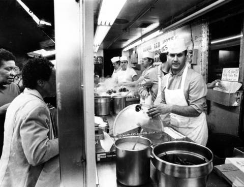 On Maxwell Street on May 15, 1985, you could walk up to a window and order a sandwich, a hamburger, or fried dough stuffed with meat.