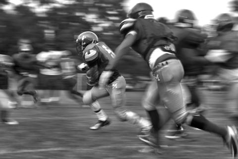 Menchville football players complete drills during a recent practice Thursday evening.