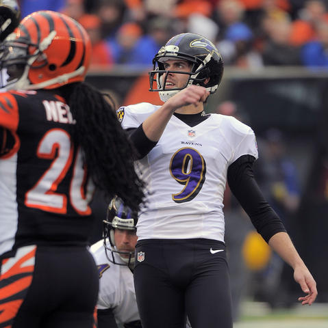 The Ravens are still a slim favorite in spite of Ray Rice's absence, but that's because they historically play well at home and the Bengals haven't won here since 2009. That will still be the case after Justin Tucker kicks a long one to make the difference.